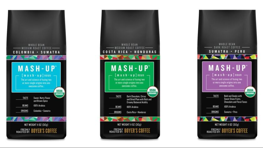 Mash-Up coffee blends from Boyer's Coffee.