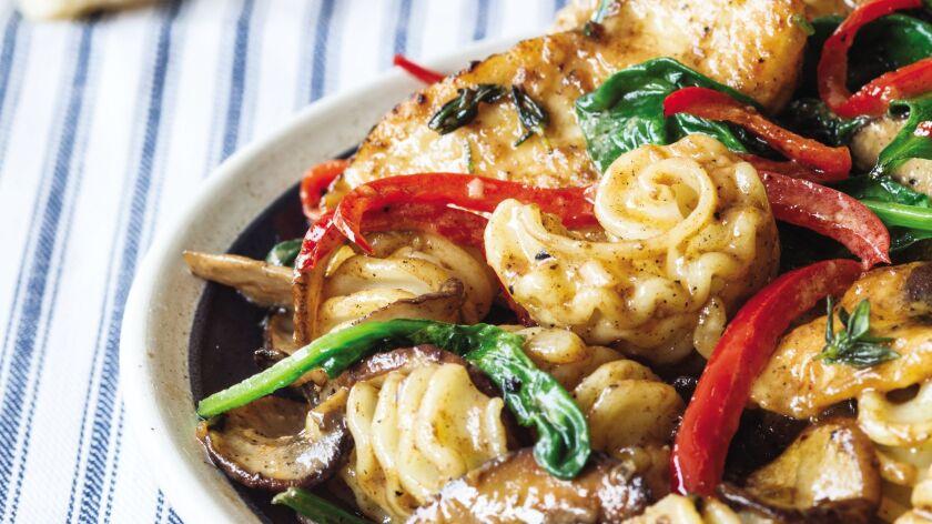"Chicken Marsala Radiatori, from ""Guy Fieri Family Food."""