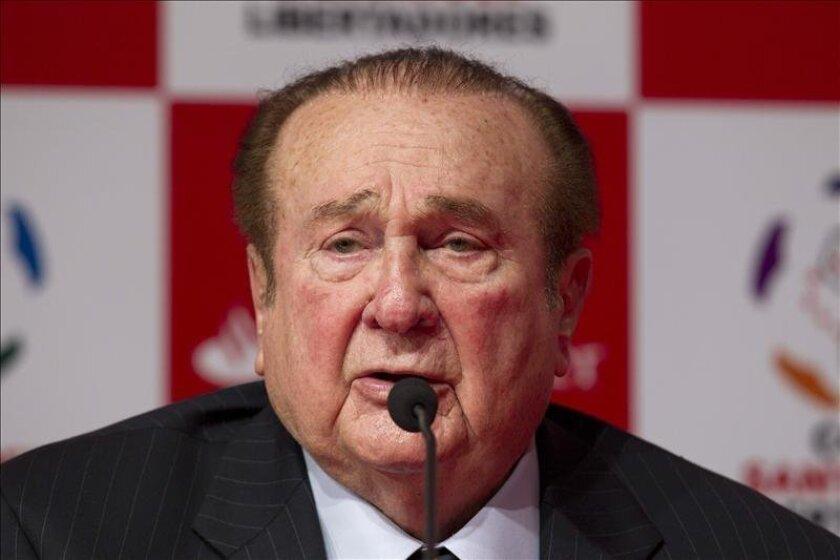 Imagen de archivo del expresidente de la Confederación Sudamericana de Fútbol (Conmebol) Nicolás Leoz. EFE/Archivo