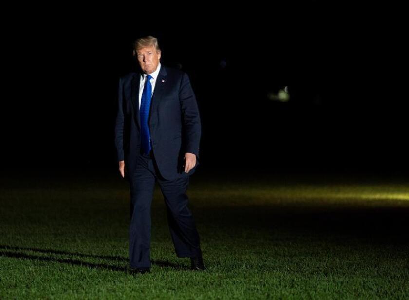 El presidente estadounidense, Donald J. Trump, regresa a la Casa Blanca tras asistir a eventos políticos en Pensilvania y Misisipi en Washington, DC (EE.UU.). EFE