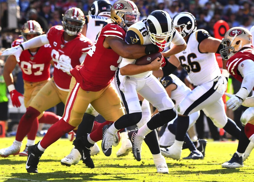 Rams Need Jared Goff To Keep 49ers Under His Thumb Los