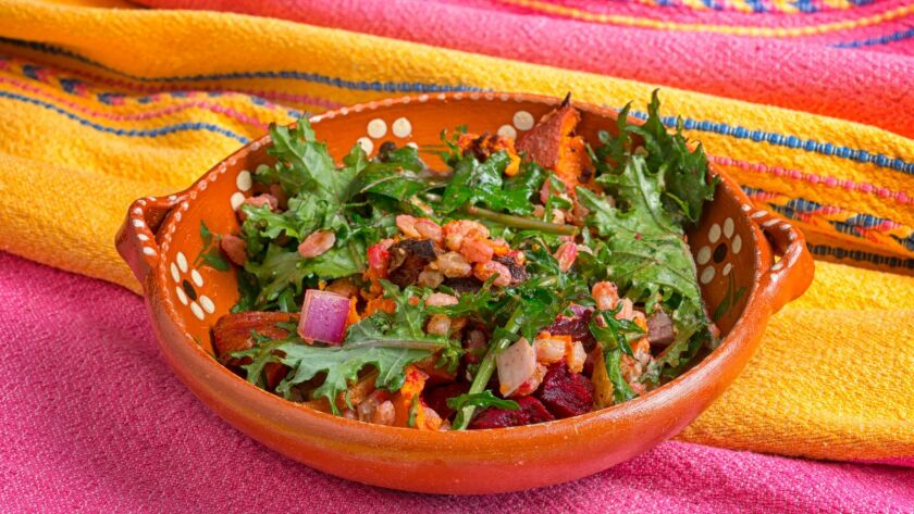 Roasted Root Vegetable Salad, prepared at the Olivewood Gardens and Learning Center.