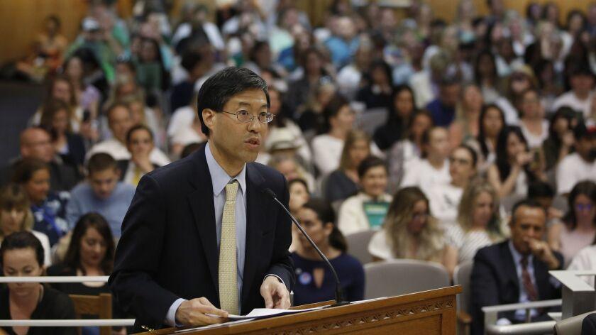 State Sen. Richard Pan (D-Sacramento) at a hearing on his bill, SB 276, in April. The legislation, imposing new oversight of medical vaccine exemptions for schoolchildren, now heads to Gov. Gavin Newsom's desk.