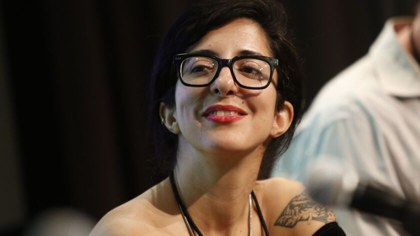 """Porochista Khakpour at the L.A. Times Festival of Books in 2015. Her new memoir is """"Sick."""""""