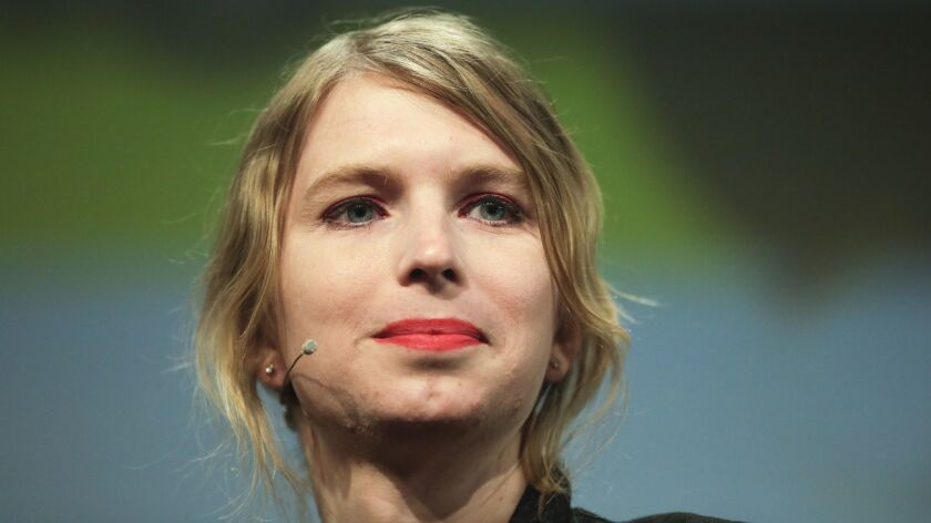 Before she left the jail, Chelsea Manning, shown last year, received another subpoena demanding her testimony on May 16 to a new grand jury.