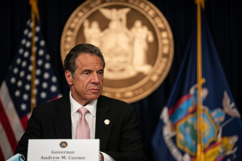 New York Gov. Andrew Cuomo speaks during the daily media briefing on June 12, 2020 in New York City.