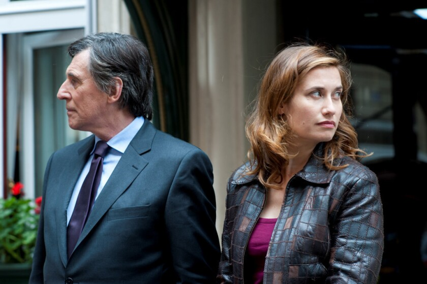 """Emmanuelle Devos, right, and Gabriel Byrne in the movie """"Just a Sigh."""""""