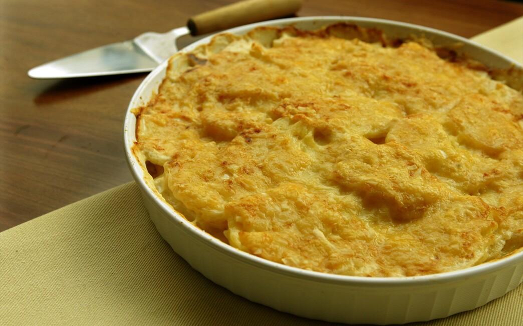 Celeriac and potato gratin