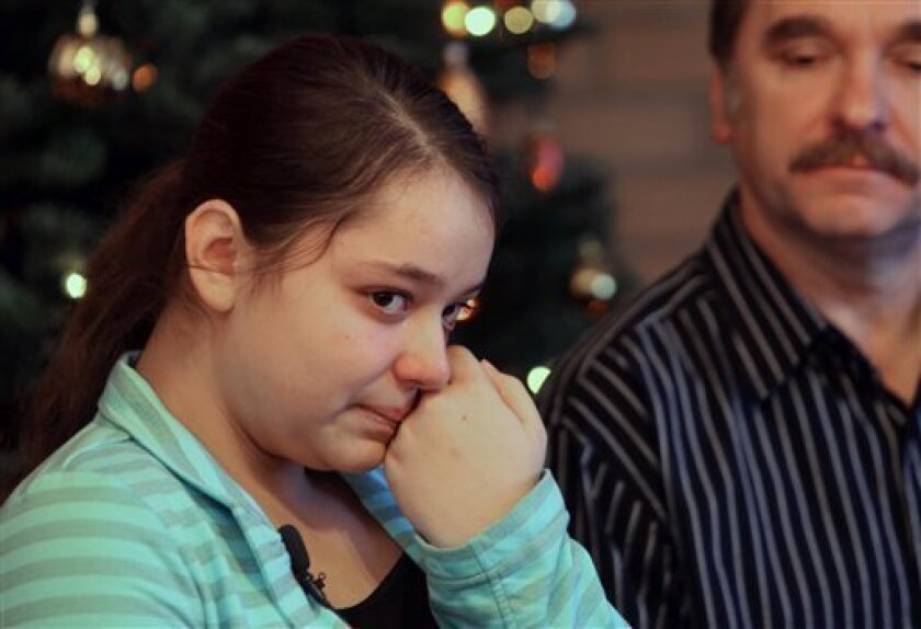 Kristina Shevchenko, 15, a victim of the shooting at the Clackamas Town Center mall near Portland, Ore., describes her ordeal to reporters for the first time.