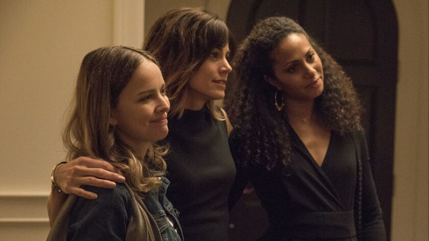 """Allison Miller, Stephanie Szostak and Christina Moses in the pilot episode of """"A Million Little Things."""""""