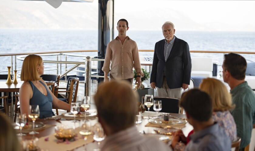"""Sarah Snook, Jeremy Strong, Brian Cox in Season 2 Episode 10 of """"Succession."""""""