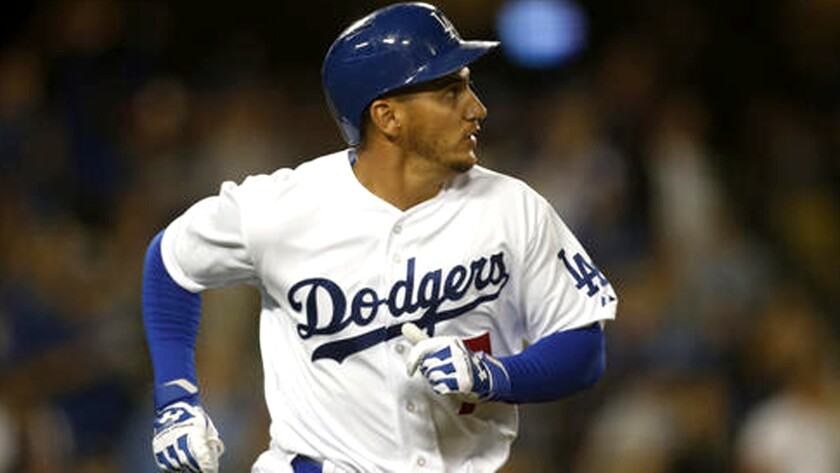 The Dodgers' Alex Guerrero runs the bases after hitting a two-run home run against Seattle last season.
