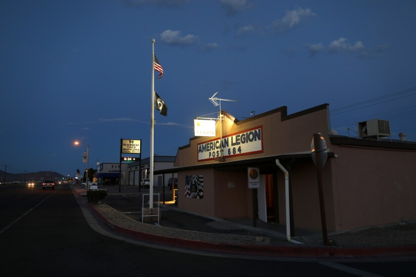 RIDGECREST, CALIF. -- MONDAY, JUNE 3, 2019: American Legion Post 684 along W. Inyokern Road in Ridge