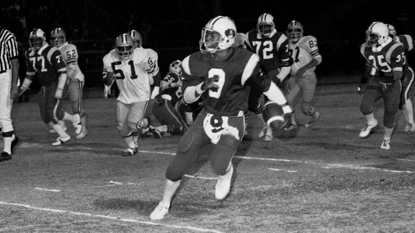 Marcus Allen starred at Lincoln High before playing for USC and the Raiders and Chiefs in the NFL. He was elected to the College Football Hall of Fame as well as the Pro Football Hall of Fame.