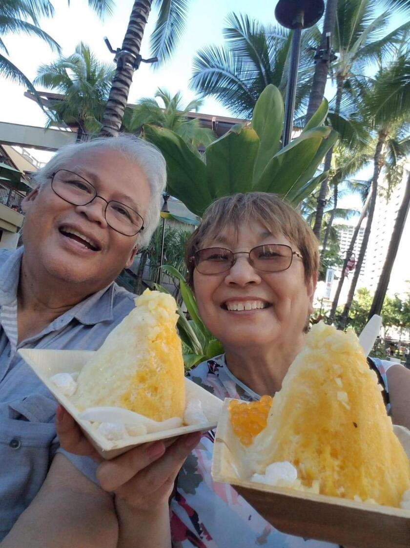 Beverly Paderes and her husband, Ricardo
