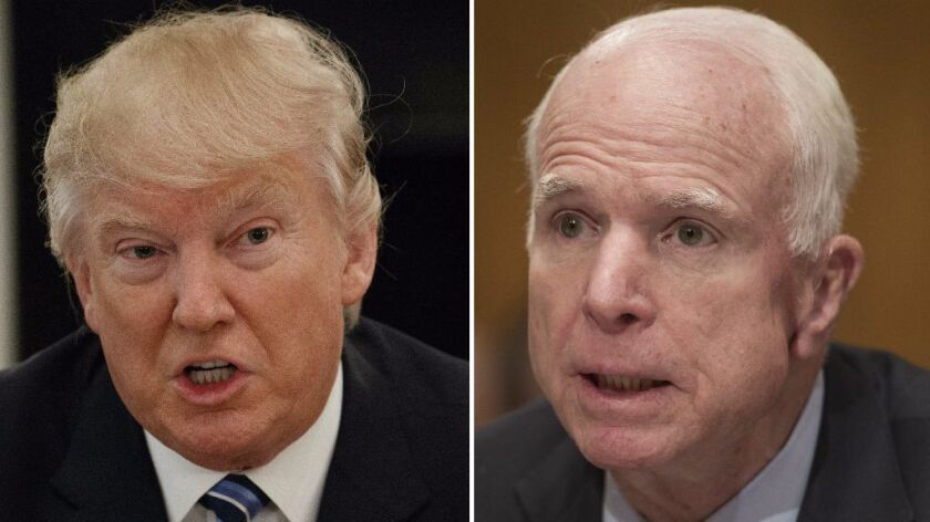 President Donald Trump and Sen. John McCain, R-Arizona, spar over Yemen raid that resulted in one U.S. Navy Seal dead.