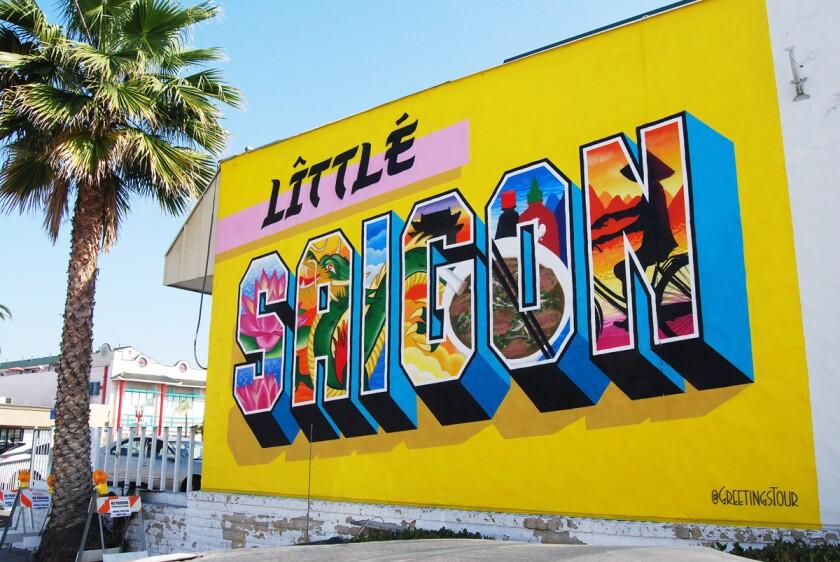 Greetings Tour Little Saigon mural.