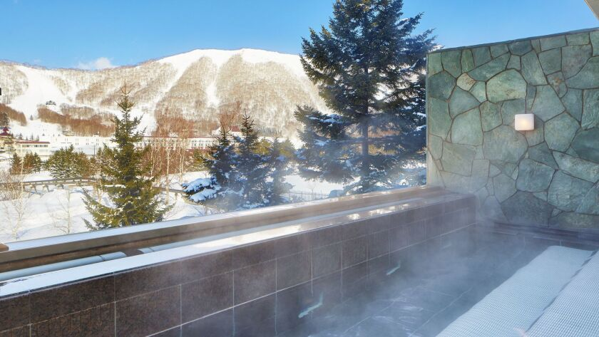 Outdoor onsen hot spring at The Westin Rusutsu. Photo courtesy of The Westin Rusutsu