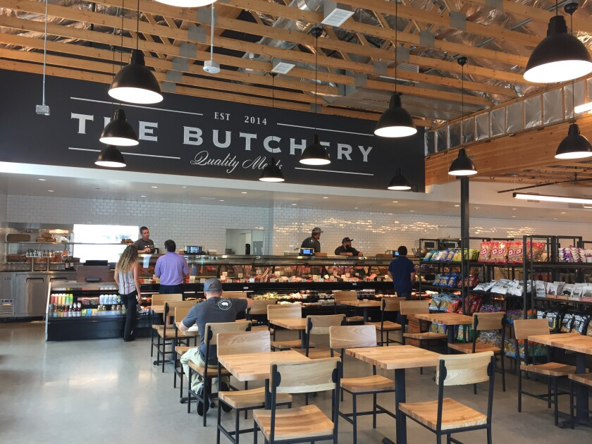 The Butchery in the One Paseo project on Del Mar Heights Road is a combination meat counter, deli, gourmet grocery market and restaurant.