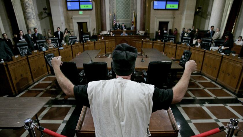 A 2006 Los Angeles City Council meeting.