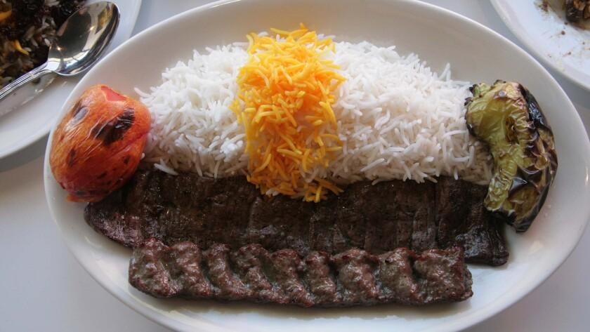Kebab plate at Dizin Persian Cuisine in Reseda.