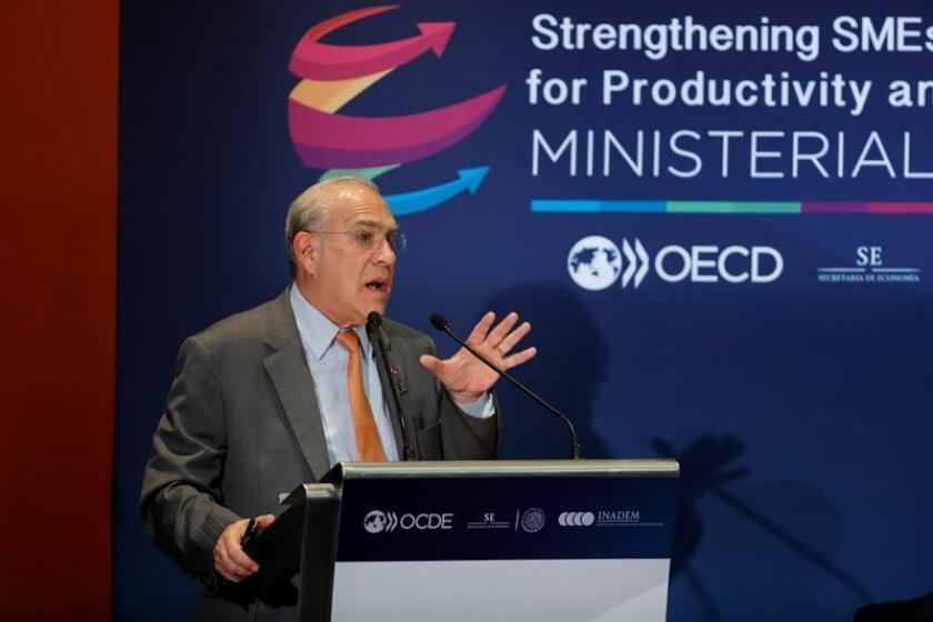 El secretario de la Organización para la Cooperación y el Desarrollo Económicos (OCDE), José Ángel Gurría, habla durante una rueda de prensa hoy, viernes 23 de febrero de 2018, en Ciudad de México (México). EFE