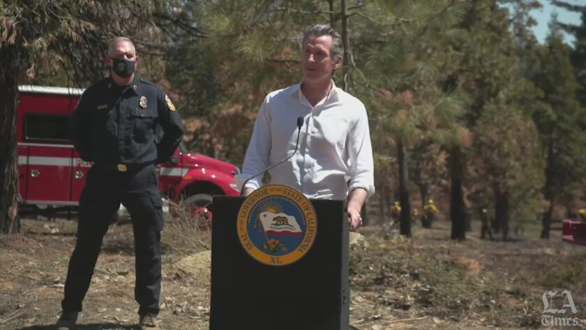 Gov. Gavin Newsom is under fire for claims about his administration's fire-suppression efforts.