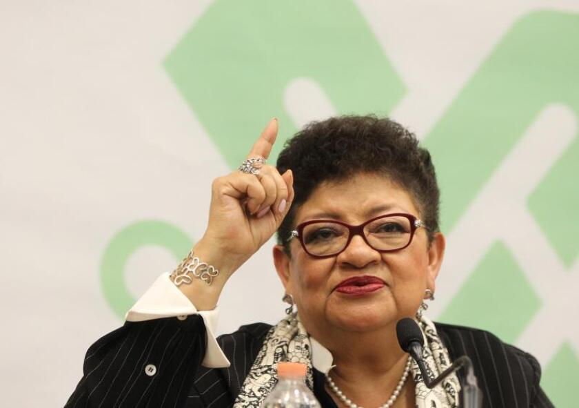 La procuradora general capitalina, Ernestina Godoy habla este martes durante una conferencia de prensa en Ciudad de México (México). EFE / Mario Guzmán/Archivo