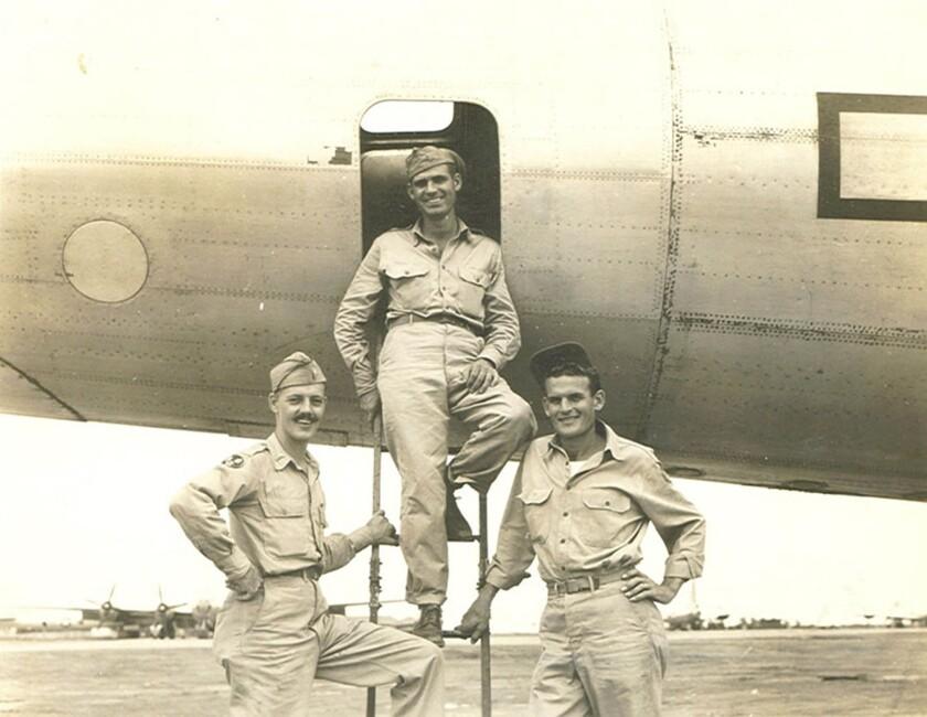 The three Texans on that B-29's crew: Lieutenant Garrel Bardin Ray, co-pilot; Lieutenant Charles Gray, flight observer; and Sergeant Virgil Bailey, gunner.