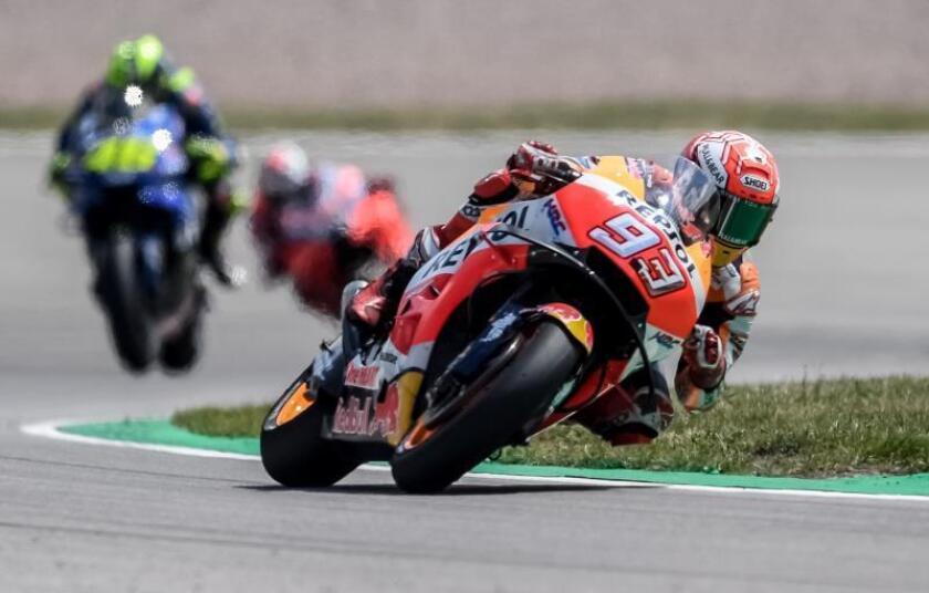 El español Marc Márquez (Repsol Honda RC 213 V) sumó su quinta victoria. EFE