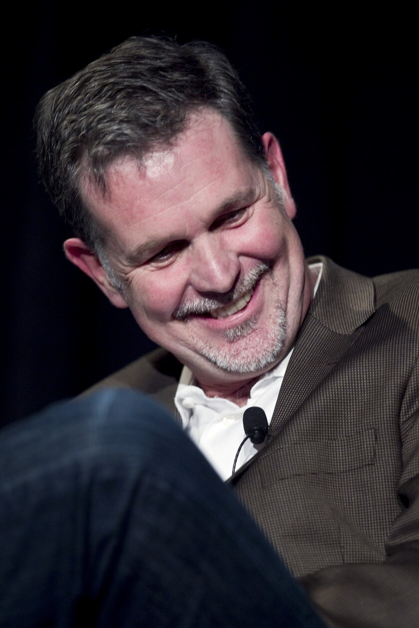 Reed Hastings, chief executive officer of Netflix Inc., during a Leaders in Technology dinner at the 2011 International Consumer Electronics Show.