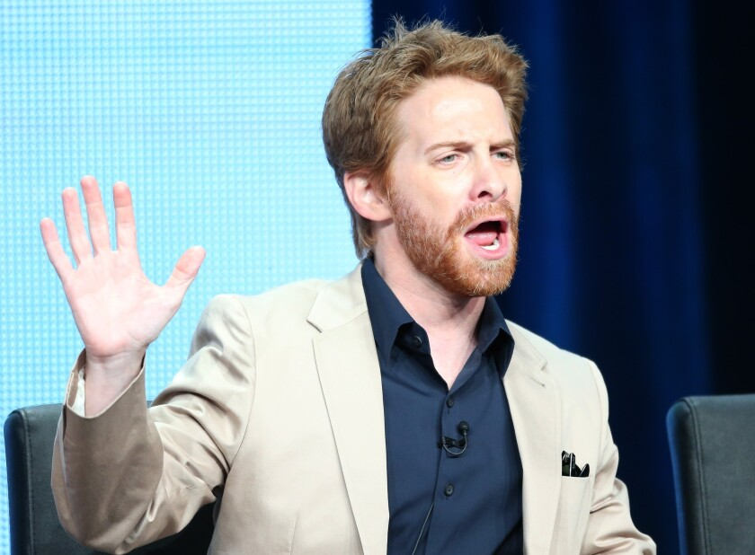 """Actor Seth Green speaks onstage during the """"Dads"""" panel discussion at the FOX portion of the 2013 Summer Television Critics Association tour - Day 9 at The Beverly Hilton Hotel on August 1, 2013 in Beverly Hills, California."""