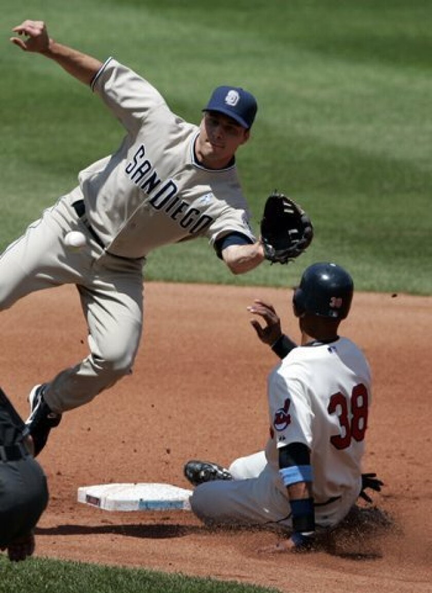 Infielder Craig Stansberry, who played in 12 games for the Padres this season, was one of three players outrighted to Triple-A on Wednesday.