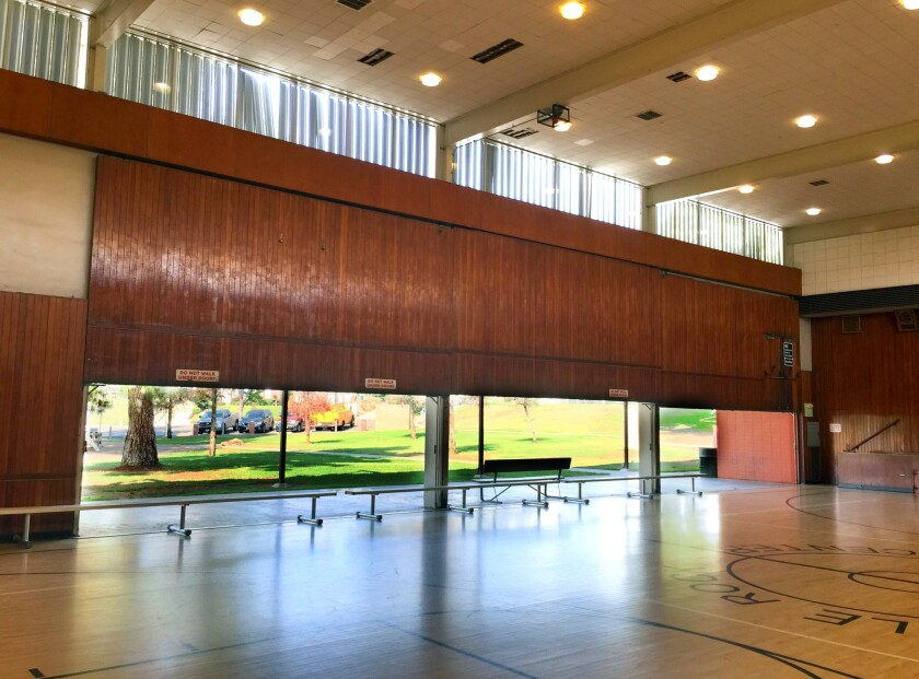 The Eagle Rock Recreation Center, originally known as the Eagle Rock Playground Clubhouse built in 1953, has wooden walls that can be hand-cranked up on both sides to allow air to circulate.