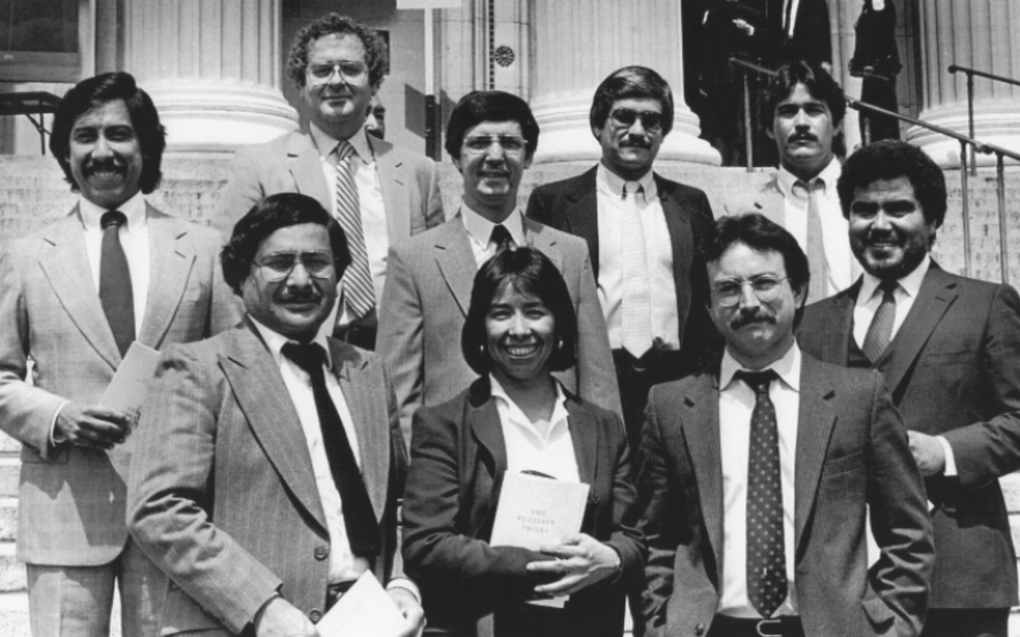 Los Angeles Times journalists at the 1984 Pulitzer Prize ceremony in New York