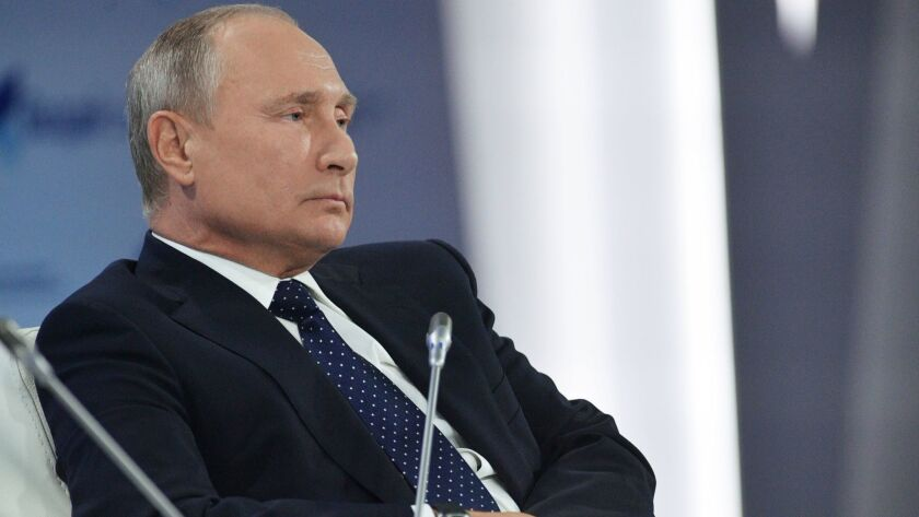 Russian President Vladimir Putin attends Valdai International Discussion Club in Sochi, Russian Federation - 18 Oct 2018