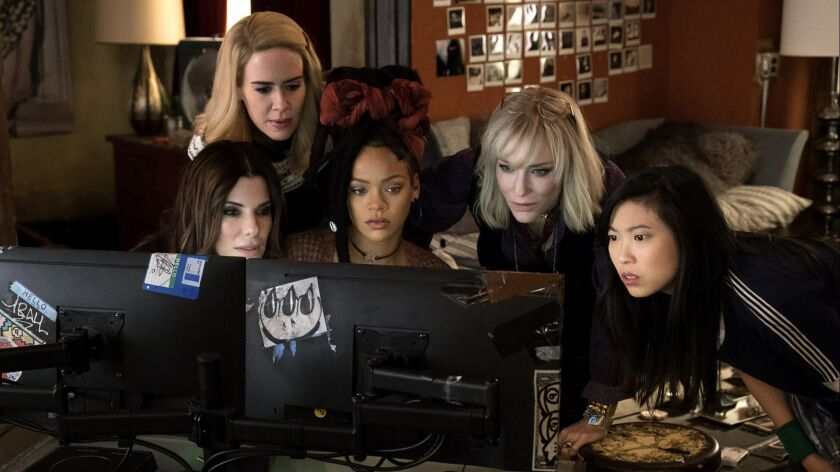 "Sandra Bullock, Sarah Paulson, Rihanna, and Cate Blanchett also star in the female-centered caper ""Ocean's 8."""