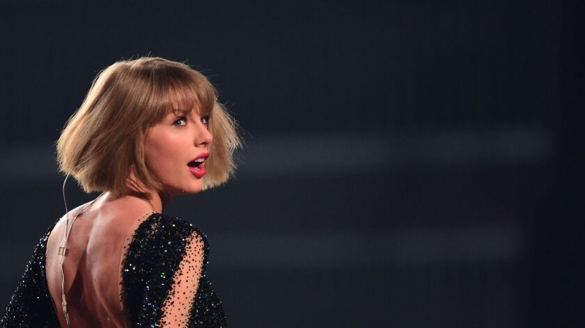 Taylor Swift performs at the 2016 Grammy Awards.