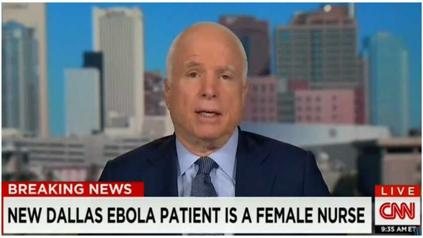 Sen. John McCain, R-Ariz., engages in some Ebola fear-mongering for your Sunday morning coffee.