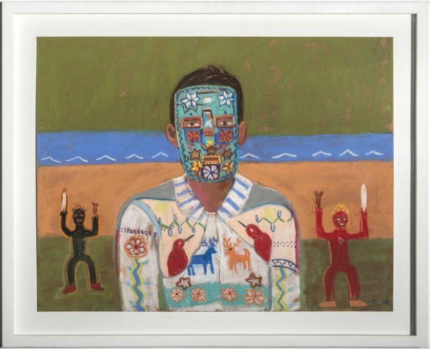 "Oil on canvas by Roberto Gil de Montes, ""Yo Cora, 2013."""
