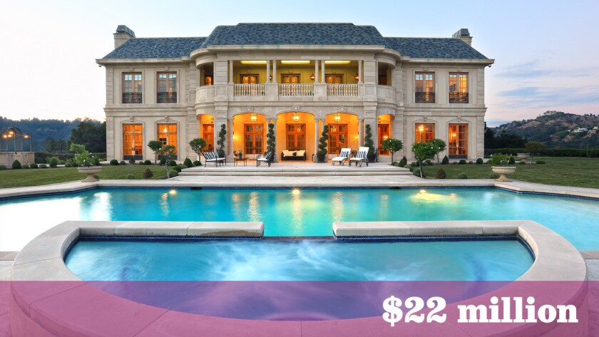 At $22 million, the 22,163-square-foot home in the Beverly Crest area was the most expensive home sold in L.A. County between Oct. 30 and Nov. 12.