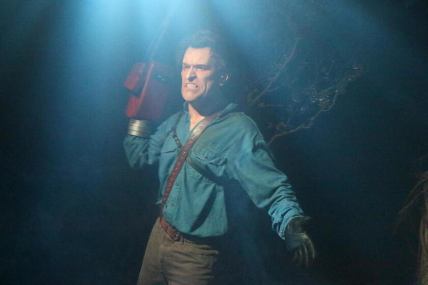 One of the featured 2017 mazes at Universal Studios Hollywood's Halloween Horror Nights is 'Ash vs. Evil Dead,' based on Starz's comedy horror television series.