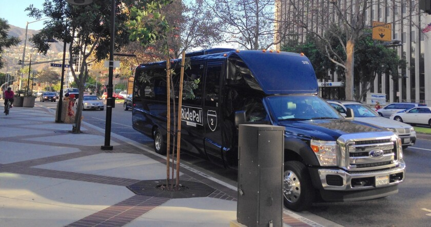 A service operated by RidePal and sponsored by YP can shuttle as many as 40 commuters from Venice, Mar Vista and West Los Angeles to Glendale.