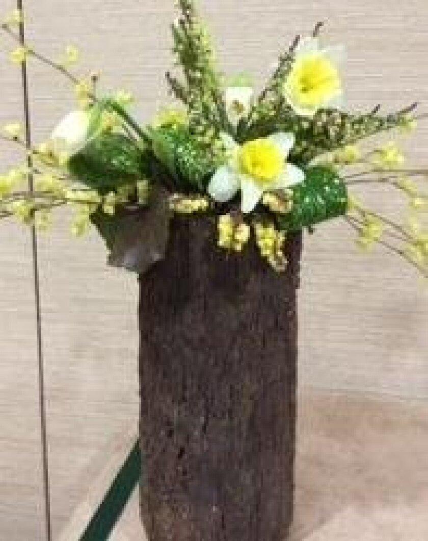 Arrangement by floral designer Michele Spence