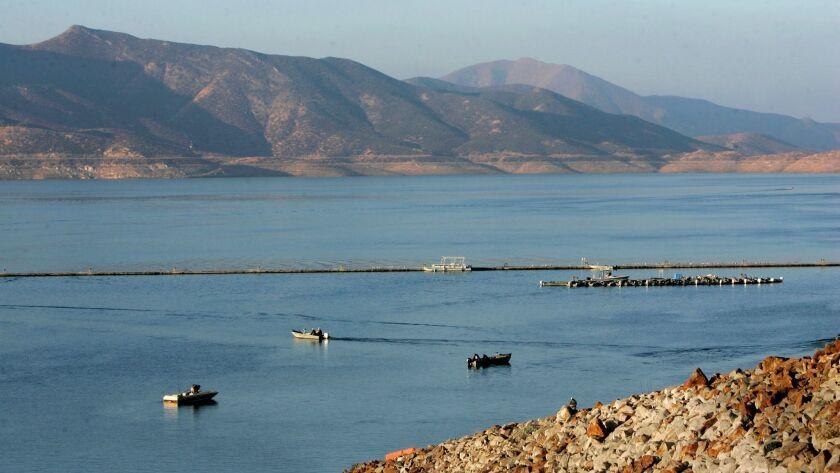 September 23, 2010, Hemet, CA, USA_Morning view of Diamond Valley Lake looking northwest from near t
