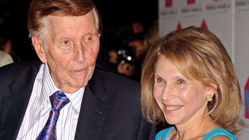 Sumner Redstone and his daughter, Shari Redstone, in 2012.