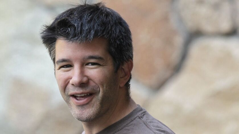 Former Uber Chief Executive Travis Kalanick, shown in 2012, plans to be on the New York Stock Exchange floor when the company goes public Friday.