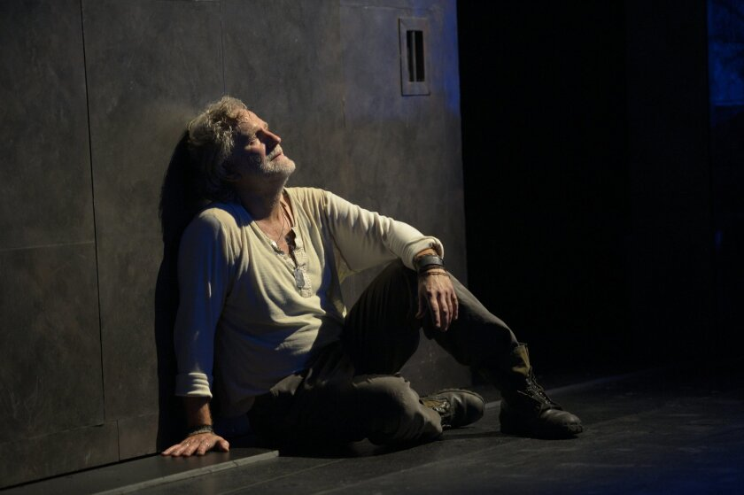 """Henry Woronicz as the Poet in Denis O'Hare and Lisa Peterson's lyrical yet anguished """"An Iliad."""""""