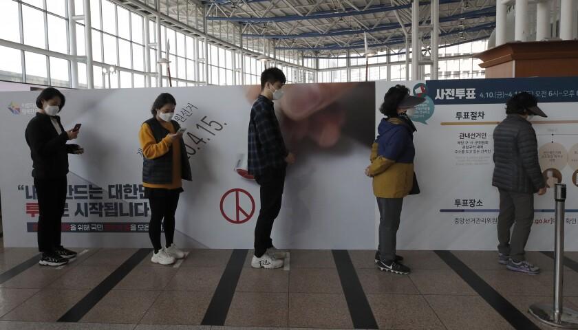 Virus Outbreak South Korea Election