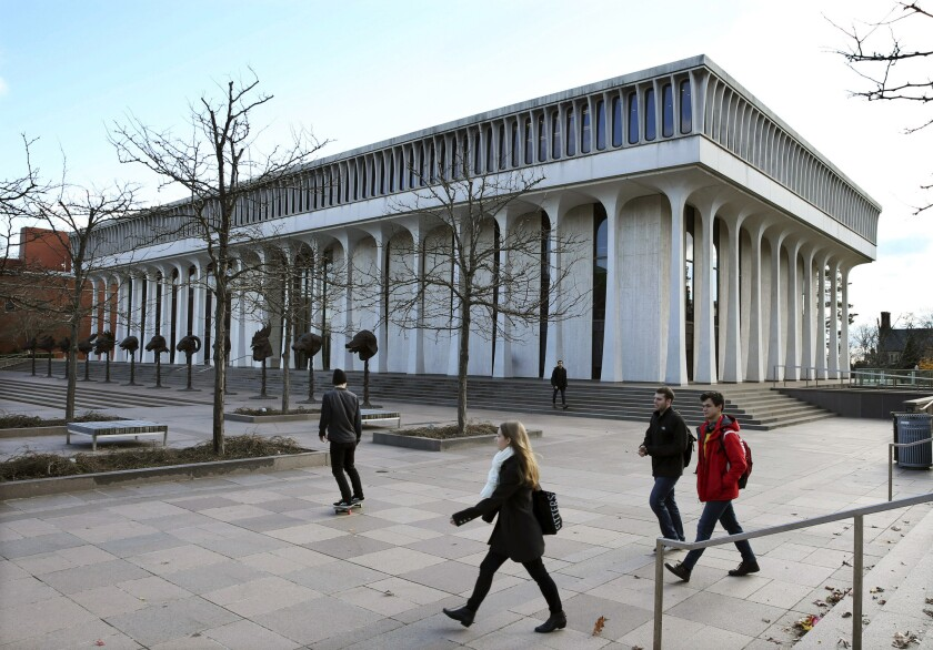 The Woodrow Wilson School of Public and International Affairs at Princeton University.